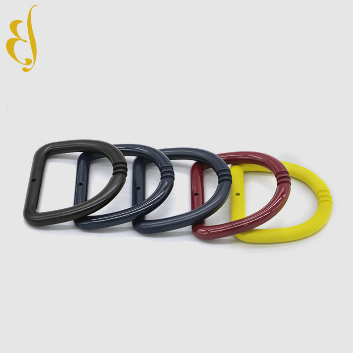 Custom different color metal label tag logo handbag brand <strong>hardware</strong> accessory Steel close dress d ring bits shackle nath
