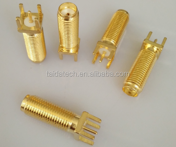 Gold Plated Straight Antenna SMA Seat Full Teeth Five Head Straight Seat SMA-KE <strong>17</strong> Tooth RF Connector