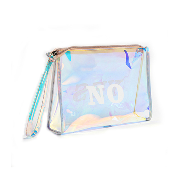 Customized transparent waterproof clear travel pvc cosmetic bag