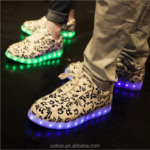 Fashion Couples LED Sport Shoes light shoes led light up shoes made in China