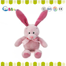 Best made toys stuffed Pink long ears rabbit for christmas gift