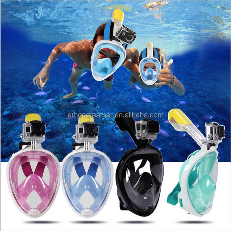 Underwater Diving Mask full face Snorkel mask Set Swimming Training Scuba mergulho full face snorkeling mask Anti Fog For Gopro