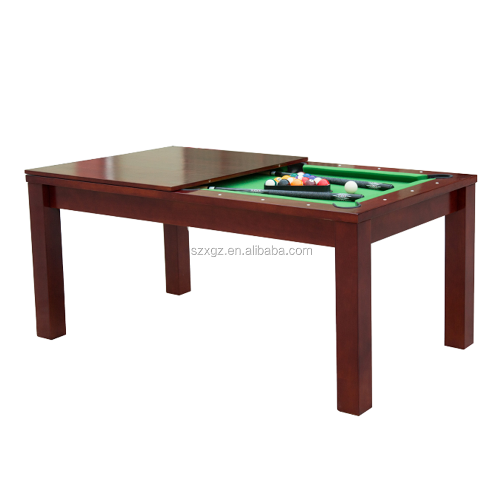 Dining room table and pool table combination