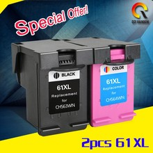 2017 star product withcompatible chip wholesale 61XL refill ink cartridge for HP