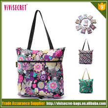 Comfortable Design Foldable Flower Printing Women Shopping Bags