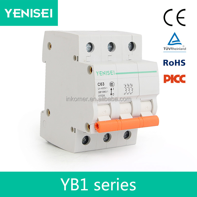 3 phase mini YB1 disjunctor types of electrical circuit breaker manufacturer