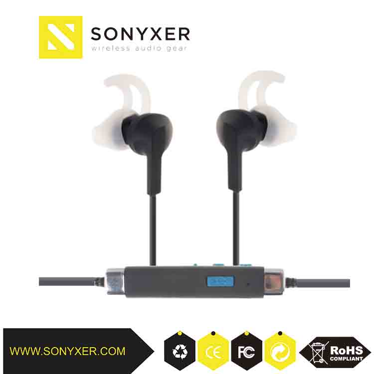 Headphones in-ear style and bluetooth wireless communication