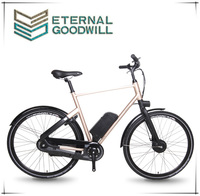 "Euro city bike price 3 speeds 28"" aluminum city electric bicycle lithium battery adult electric bike for man and woman"