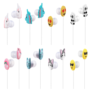 New Funny Cartoon Earphone, Best Quality Cartoon In-Ear Animal Earbuds Headphones With Handsfree Mic For Kids