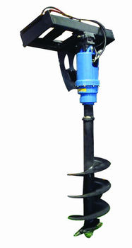 Auger for skid loader attachments