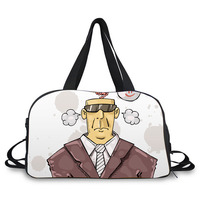 Nice pattern travel luggage cartoon pictures of men duffle bag manufacturers