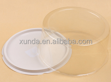 Custom good sealing clear plastic cake domes with cover