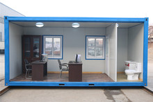 durable and safe economic folding kiosk prefab used 20ft containers