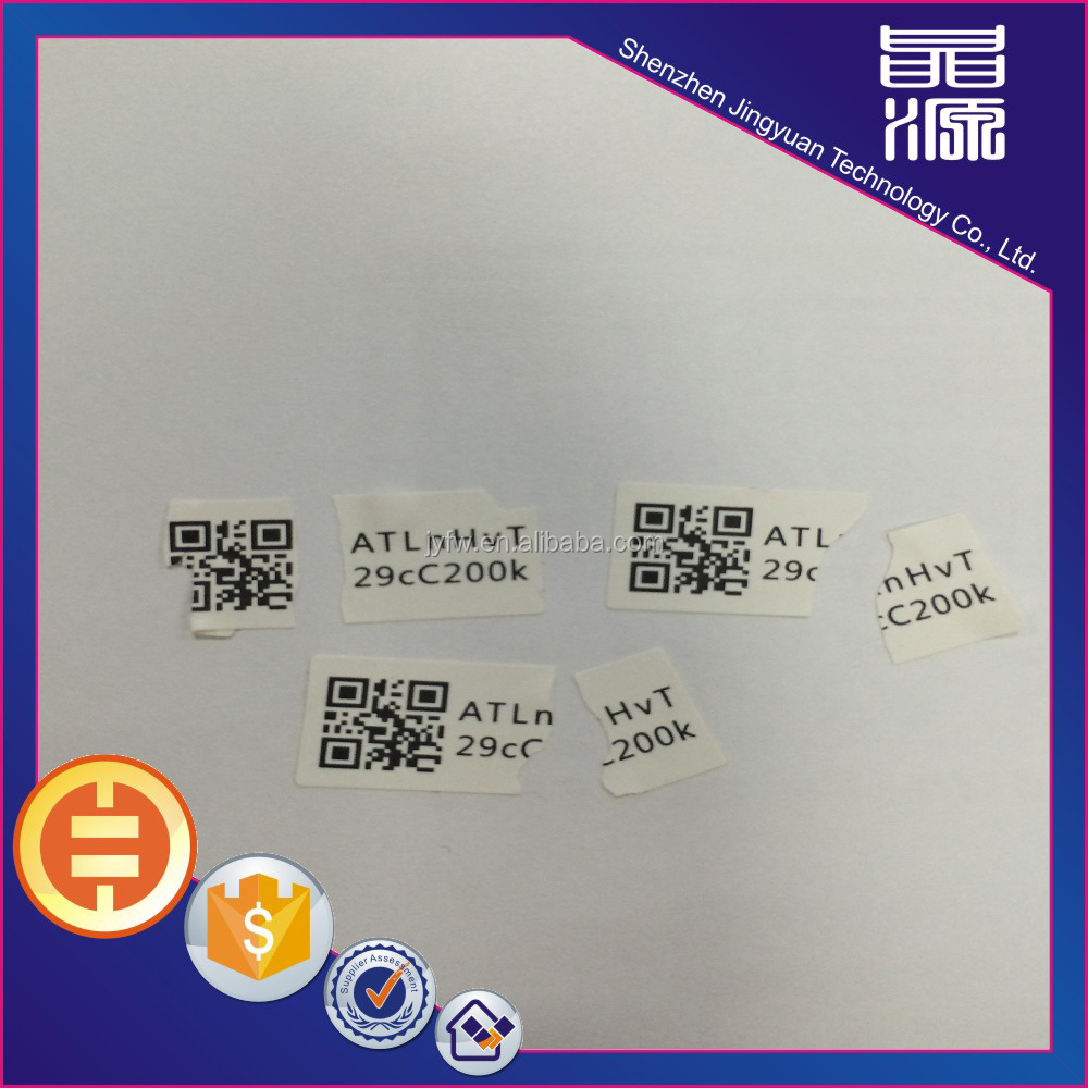 Hot sale special custom fragile anti-tamper adhesive eggshell label sticker high quality