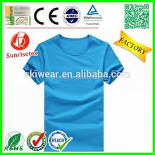popular wholesale o-neck high quality t-shirt factory