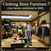 Modern design retail Chinese clothing store with clothing display furniture