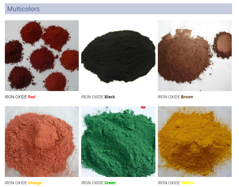 Factory Price Making Concrete Color Red Paint / Concrete Iron Oxide Pigment