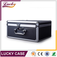 Black metal aluminum briefcase for laptop