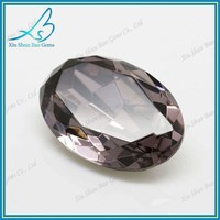 Chinese manufacturing company sale oval cut decorative colored glass stones