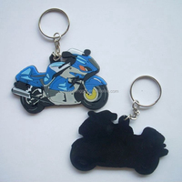 Customized soft pvc rubber silicone motorcycle car keyring,3d mini sneaker keychain