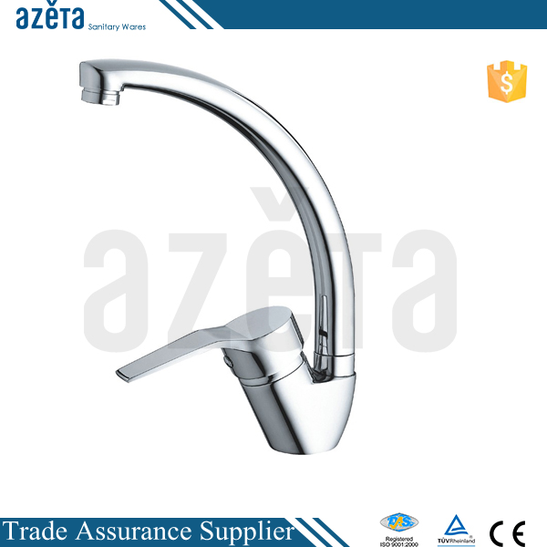 Modern Polish Surface Brass Material Single Lever Kitchen Sink Mixer