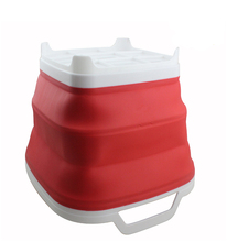 Ears Carry it Eco-Friendly Foldable Bucket Silicone Water Folding Bucket Collapsible Bucket Square