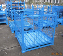 Mesh Grid Industrial Steel Container for Storage in Factory