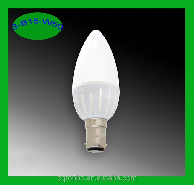 TUV CE ERP 110V 220V E14 3W Led Candle Light Dimmable