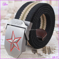 Free Shipping by DHL/FEDEX/SF Star Buckle Military Belt Fashion Strong Canvas Belt Men Belts