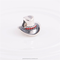 925 Sterling Silver Jewelry Charms Fit European Bracelet DIY Jewelry Cowboy Hat Charm Beads Christmas Gifts