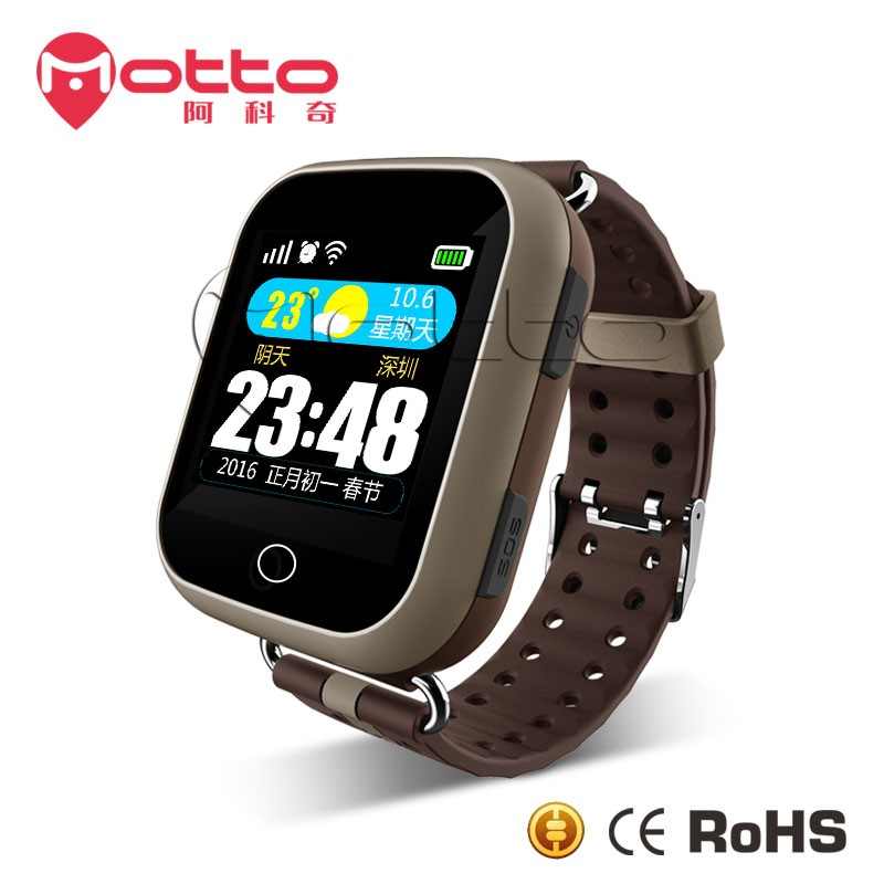 wifi color touch screen gps heart rate watch mobile phone for senior