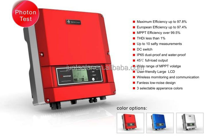 6 kw on grid hybrid solar system inverter for home use from China with german quality
