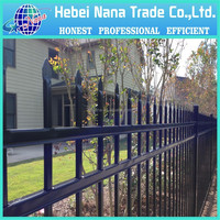 powder coated brick fence / wrought iron fence