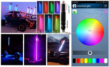 RGB 4*4 light LED flag pole light with Bluetooth Control