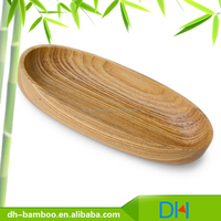 Wholesale Ash wood Tableware dessert dishes , FDA available Wooden egg shape Macaron Serving Tray for Sale