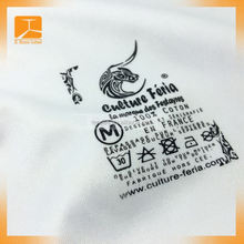 custom heat transfer label with embossed copy words, heat transfer label with embossed copy words