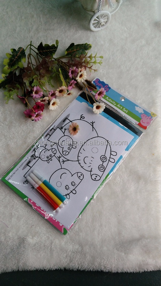 Wholesale 2016 Peppa Pig Cute School Drawing Stationery Supplies