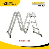 AF ML43 Aluminum Multipurpose Ladder with Hinge in Aluminum Ladder