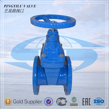 4 inch flanged resilient seated soft sealing cast iron gate valve