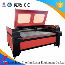 Shenhui speed 1600*1000 100w runner table laser cut fabric