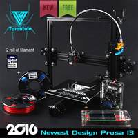 2016 Newest Quality High Precision Reprap Prusa i3 DIY 3d Printer kit with 2 Rolls Filament 8GB SD card LCD for Free