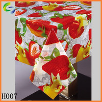 fruit designs plastic pvc table cover