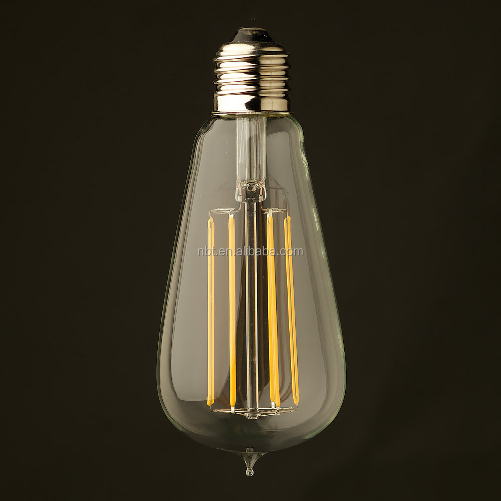 LED filament bulb ST64 with long filament 2W / 4W / 6W / 8W led edison bulb