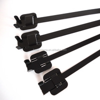 316 Stainless Steel Cable ties with Coated with Nylon 11
