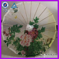Wholesale OEM Oil Paper Umbrella Japanese Umbrella Promotional Flower Paper Parasols Wholesale For Wedding Decoration