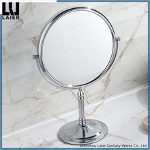 Tabletop toilet glass double-sided makeup mirror Swivel Vanity Mirror with 3x Magnification of Brass