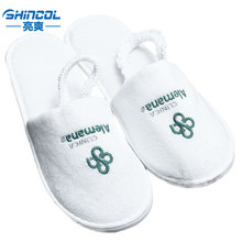High Quality cheap hotel guests slippers with comfortable Cotton terry