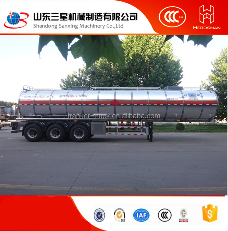 Ming Hang Oil transport tank trailer , fuel tanker semi trailer , 3 Axles fuel tanker trailer