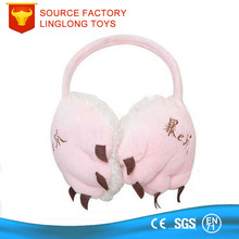 TUV Certificate Factory Customize Ear Cover Pink Cat Pad Earflap Girl Cartoon Animal Claw Ear Muff