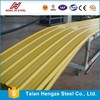 Color coated Galvanized corrugated Steel Sheet / PPGI Trapezoid sheet for Sandwich Panel and Steel Composited Panel